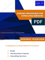 Bidding Procedure for Consulting Services
