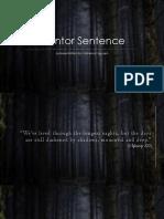 Mentor Sentence - Vanessa