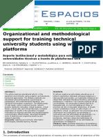 Soporte institucional y metodológico para estudiantes de universidades técnicas a través de plataformas web