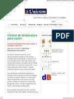 control tenperatura