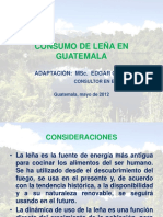 Leña en Guatemala