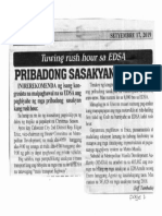 Bulgar, Sept. 17, 2019, Tuwing rush hour sa EDSA Pribadong sasakyan, bawal.pdf