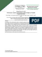 Performance Analysis and Simulation of Diesel Engi