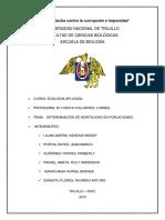 Informe Mortalidad - Ecología Aplicada