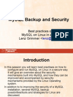 Mysql Backup Security