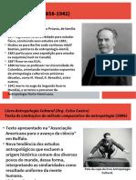 Slides Franz Boas - As Limitações do método comparativo da antropologia e A mente do ser humano primitivo