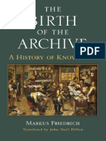 [Cultures Of Knowledge In The Early Modern World] Markus Friedrich - The Birth of the Archive_ A History of Knowledge (2018, University of Michigan Press).pdf