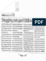 Manila Times, Sept. 17, 2019, Smuggling costs govt P200B every year.pdf