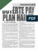 Peoples Journal, Sept. 17,2019, Duterte pay plan hailed.pdf