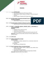 Perú Fútbol Summit 2018 │ programa