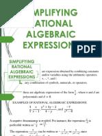 Simplifying Rational Algebraic Expressions
