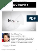 Condolezza Rice Biography
