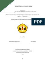 UTS Mata Kuliah Sistem Pemerintahan Desa