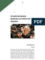 Al Borde Del Abismo. Bolsonaro y El Retorno Del Fascismo