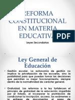Reforma Constitucional en Materia Educativa