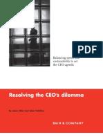 BB Resolving the CEOs Dilemma