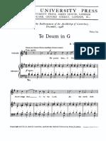 Te Deum in G