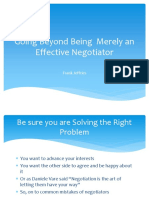 Going Beyond Being Merely an Effective Negotiator