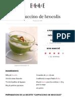 Cappuccino de Brocolis
