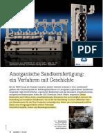 Anorganische Sandkernfertigung Gie 09 10 S76 79-Internet (Some Advantages Compared With Organic Binders)
