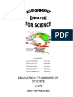 Assigment English for Science