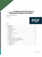 FINTECH MEXICO - Codigo de Mejores Prácticas Para El Otorgamiento Digital de Créditos Digitales v1.0