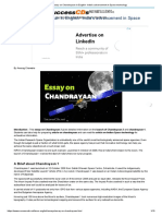 Essay on Chandrayaan in English- India's Advancement in Space Technology