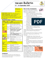 A school newsletter