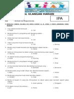 Soal IPA Kelas 2 SD Bab 4 Bentuk Dan Wujud Benda Dan Kunci Jawaban