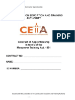 Apprenticeship Contract Agreement Form
