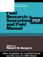 Robert Burgess - Field Research (Contemporary Social Research Series, 4) (1986)