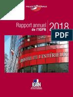 Rapport annuel d'activité de l'IGPN 2018