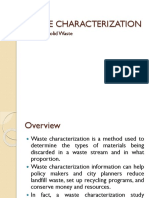 5.3. Municipal Solid Waste -Waste Characterization Study