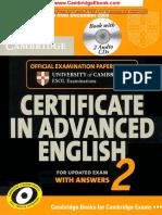 Cambridge Certificate in Advanced English 2