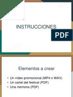 Instrucciones Festival