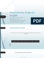 Phonotactic rules in english
