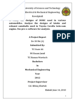 Design and analysis of camshafts (DOHC)