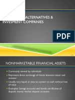 Investment Alternatives & Invesment Companies