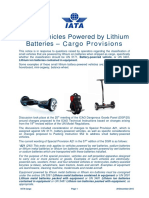 Lithium Battery Vehicles Cargo
