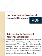 Introduction to Exercises of Sensorial Development