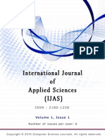International Journal of Applied Sciences (IJAS) Volume 1  Issue 1
