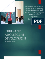 1. Principles on Child and Adolescent as Learners
