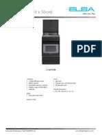 ELBA E 5210 BK Datasheet