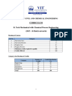 B Tech Mechanical Spec. With Chemical Process Engg