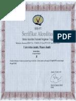 Akreditasi Institusi Universitas Jambi