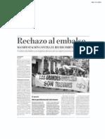 Noticia manifestación 14-N contra Yesa. Diario ADN