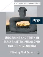 judment an ttuth in early analytic philosophy and phenomenology