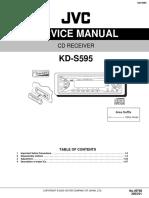 JVC Car Stereo KD-S595 Service Manual