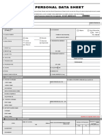 CS Form No. 212 Personal Data Sheet