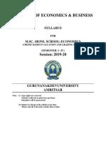 Msc Hs Economics 2019-20 Gndu